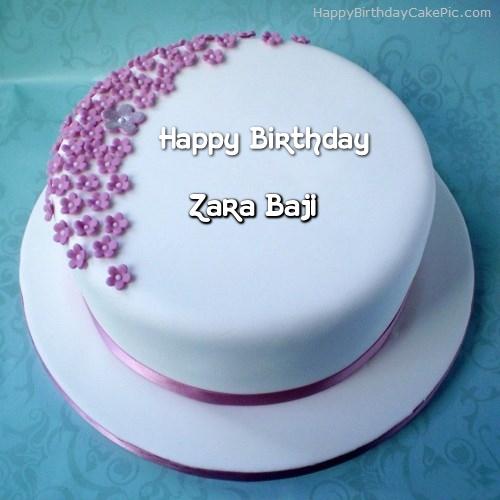 Pleasing Birthday Cake With Name Zara The Cake Boutique Personalised Birthday Cards Veneteletsinfo