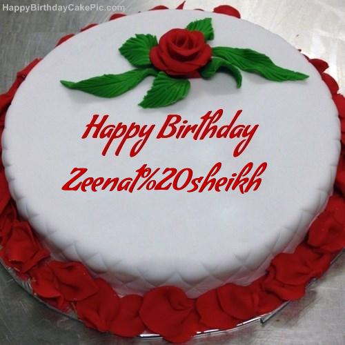 Red Rose Birthday Cake For Zeenat sheikh