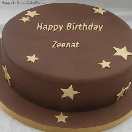 Chocolate Stars Birthday Cake For Zeenat