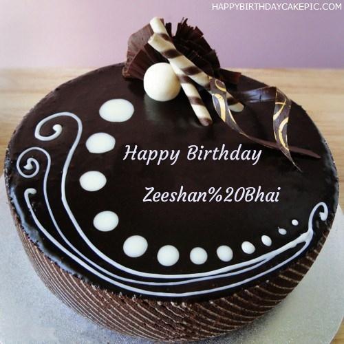 Candy Chocolate Cake For Zeeshan Bhai
