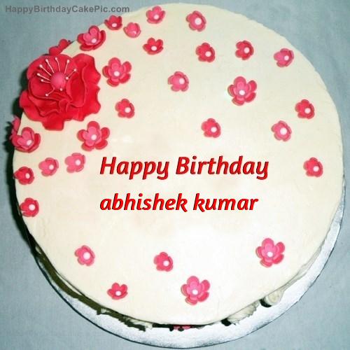 fondant birthday cake for abhishek kumar birthday cake name abhishek 1 on birthday cake name abhishek