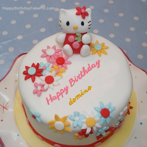 Hello Kitty Birthday Cake For domino