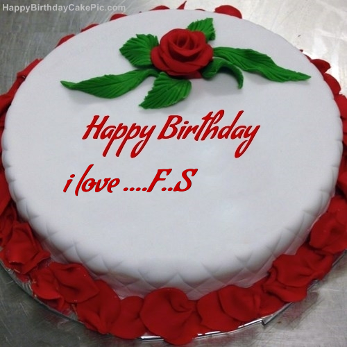 Red rose birthday cake for i love fs write name on red rose birthday cake thecheapjerseys Image collections