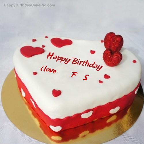 Ice heart birthday cake for i love fs write name on ice heart birthday cake thecheapjerseys Choice Image