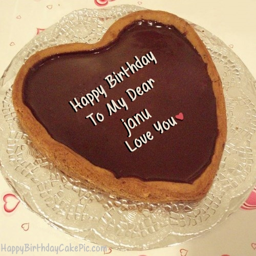 Chocolate Heart Birthday Cake For Lover For Janu