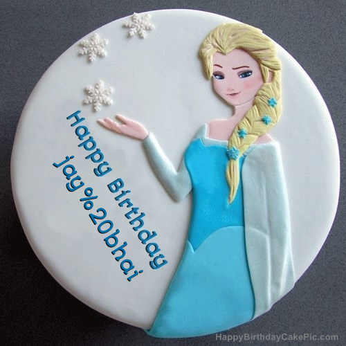 Frozen Elsa Birthday Cake For jay bhai