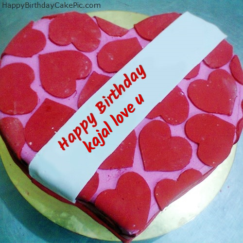 Happy Birthday Cake For Lover For Kajal Love U
