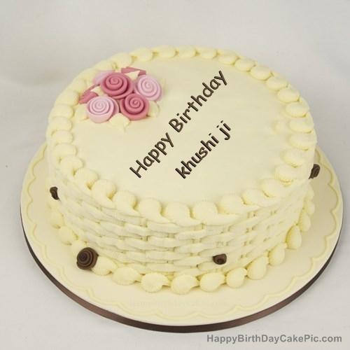 Happy Birthday Cake For Girls For Khushi Ji