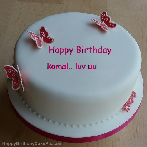 Birthday Cake Images With Name Komal : Butterflies Girly Birthday Cake For komal.. luv uu