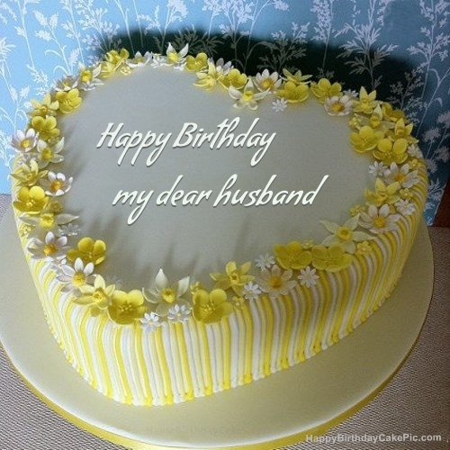 Happy Birthday My Dear Husband Cake Image Download