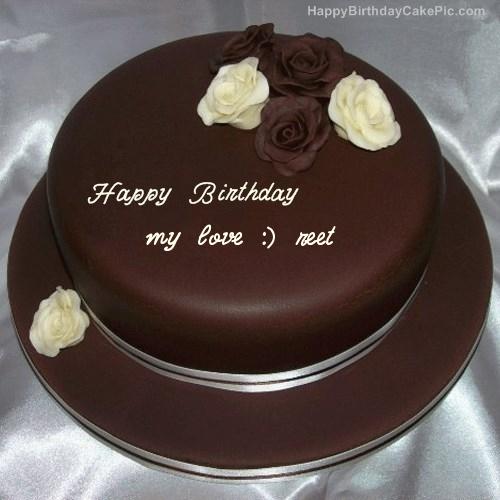 Rose Chocolate Birthday Cake For my love :) reet