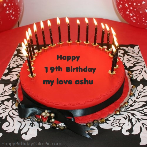 Cake Images With Name Ashu : Happy 19th Happy Birthday Cake For my love ashu