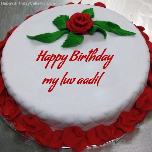 Happy Birthday Red Rose Cake