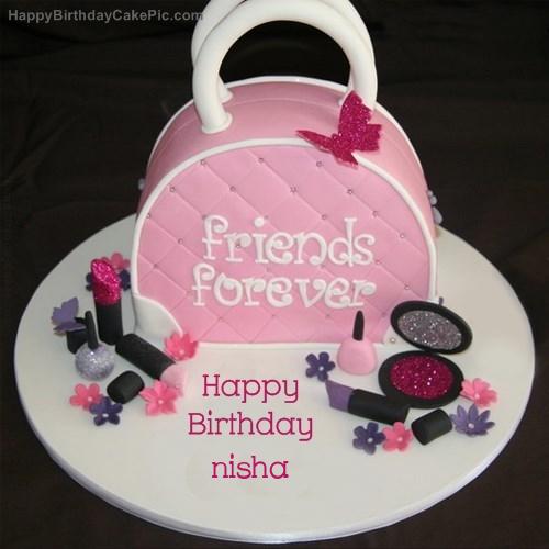 Birthday Cake Pic With Name Nisha : Fashion Birthday Cake For nisha