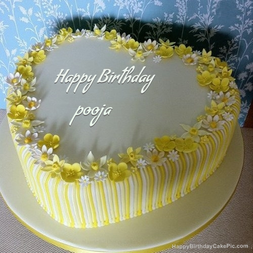 Cake Images For Pooja : Vanilla Birthday Cake For pooja