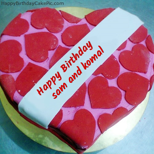 Birthday Cake Images With Name Komal : Happy Birthday Cake For Lover For sam and komal