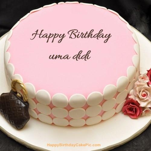 Pink Birthday Cake For Uma Didi