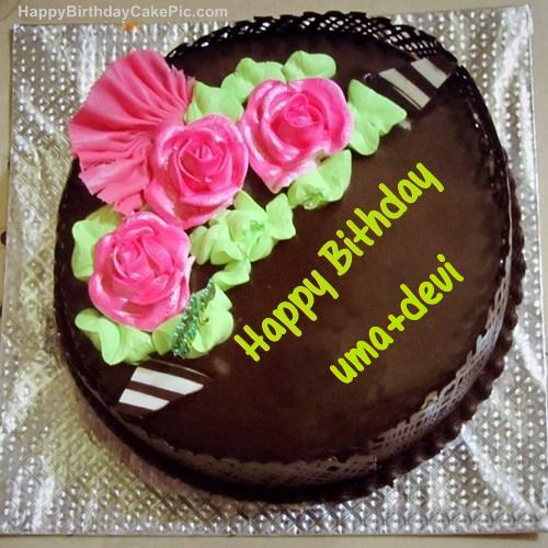 Chocolate Birthday Cake For Uma Devi