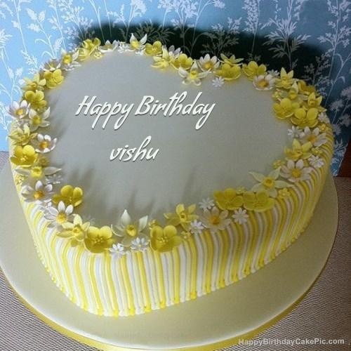 Download vishu Happy Birthday Cake picture and wish Birthday. vishu ...