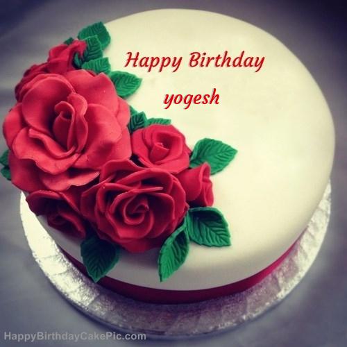 Roses Birthday Cake For Yogesh