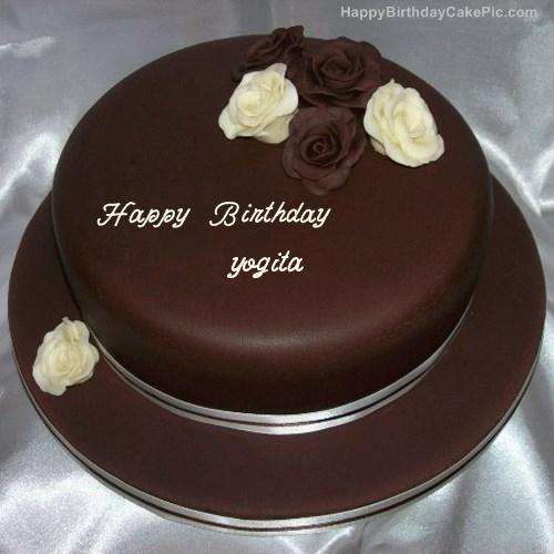 rose chocolate birthday cake for yogita