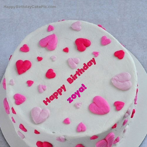 Little Hearts Birthday Cake For zoya