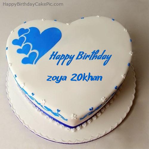 Happy Birthday Cake For zoya khan
