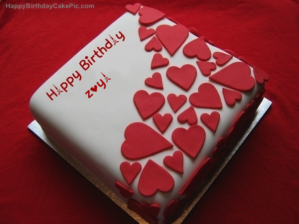 Birthday Cake With Name Zoya ~ Birthday wish beautiful cake for zoya