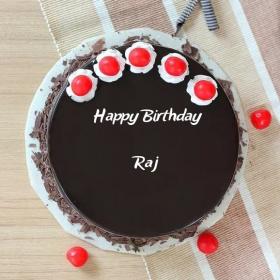 Raj Happy Birthday Cakes Photos