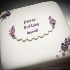 Cake Images With Name Rupali : Rupali Happy Birthday Cakes photos